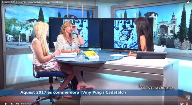 Participació al programa La Contraportada de Televisió Sant Cugat en motiu de la commemoració de l'any Puig i Cadafalch